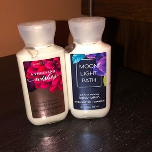 Bath and body world  2 mini lotions